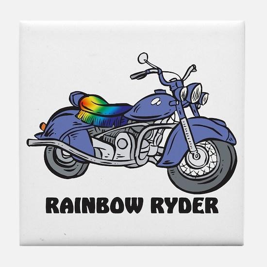 Rainbow Ryder Tile Coaster