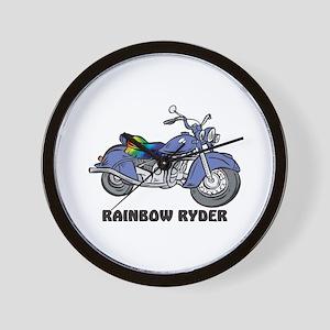 Rainbow Ryder Wall Clock