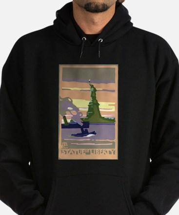 Vintage Travel Poster New York City Hoodie (dark)
