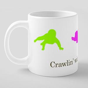 crawlin_with_my_homies_girl 20 oz Ceramic Mega Mug