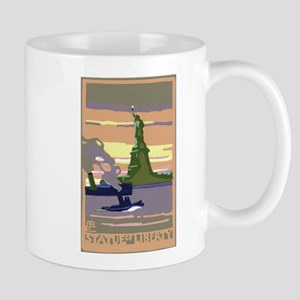 Vintage Travel Poster New York City Mug