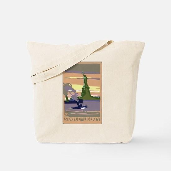 Vintage Travel Poster New York City Tote Bag