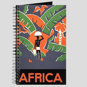 Vintage Travel Poster Africa Journal