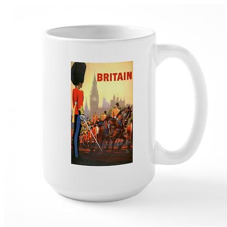 Vintage Travel Poster, Britain Large Mug