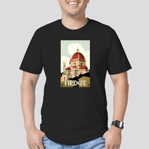 Vintage Travel Poster Firenze Men's Fitted T-Shirt