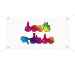 Deaf Pride Rainbow Banner