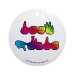 Deaf Pride Rainbow Ornament (Round)
