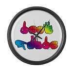 Deaf Pride Rainbow Large Wall Clock