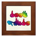 Deaf Pride Rainbow Framed Tile