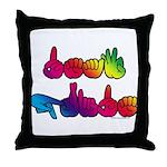 Deaf Pride Rainbow Throw Pillow