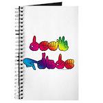 Deaf Pride Rainbow Journal