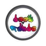 Deaf Pride Rainbow Wall Clock