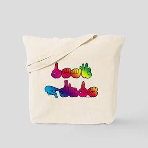 Deaf Pride Rainbow Tote Bag