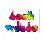 Deaf Pride Rainbow Mini Poster Print