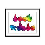 Deaf Pride Rainbow Framed Panel Print