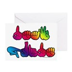 Deaf Pride Rainbow Greeting Cards (Pk of 10)