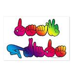 Deaf Pride Rainbow Postcards (Package of 8)