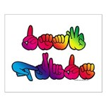 Deaf Pride Rainbow Small Poster