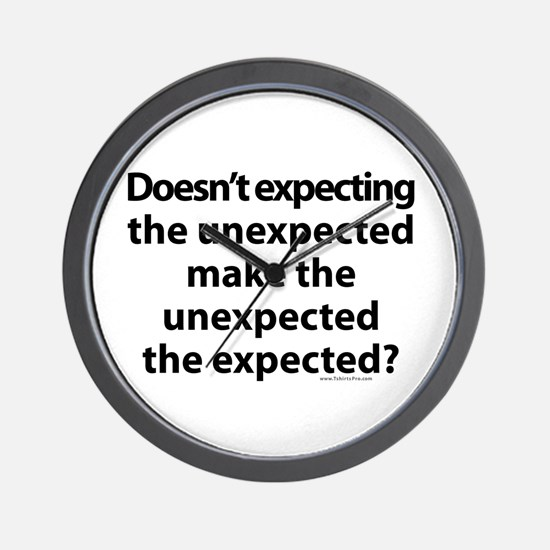 Expecting the unexpected? Wall Clock