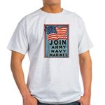 Join The Armed Forces Ash Grey T-Shirt