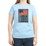 Join The Armed Forces Women's Pink T-Shirt