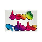 Deaf Pride Rainbow Rectangle Magnet (10 pack)