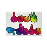 Deaf Pride Rainbow Rectangle Magnet