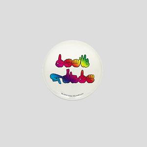 Deaf Pride Rainbow Mini Button