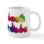 Deaf Pride Rainbow Mug