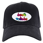 Deaf Pride Rainbow Black Cap