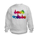 Deaf Pride Rainbow Kids Sweatshirt
