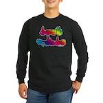 Deaf Pride Rainbow Long Sleeve Dark T-Shirt