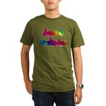 Deaf Pride Rainbow Organic Men's T-Shirt (dark)
