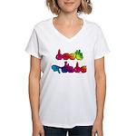 Deaf Pride Rainbow Women's V-Neck T-Shirt