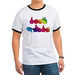 Deaf Pride Rainbow Ringer T