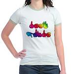 Deaf Pride Rainbow Jr. Ringer T-Shirt