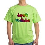 Deaf Pride Rainbow Green T-Shirt