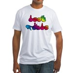Deaf Pride Rainbow Fitted T-Shirt