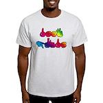 Deaf Pride Rainbow Light T-Shirt