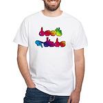 Deaf Pride Rainbow White T-Shirt