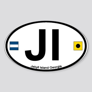 Jekyll Island GA Oval Sticker