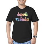 Deaf Pride Pastel Men's Fitted T-Shirt (dark)