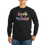 Deaf Pride Pastel Long Sleeve Dark T-Shirt