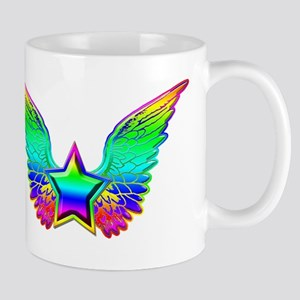 Rainbow winged star Mug