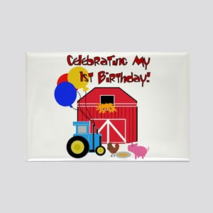 Farm First Birthday Rectangle Magnet
