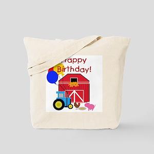 Farm Happy Birthday Tote Bag