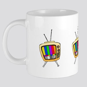TV Color Bars 20 oz Ceramic Mega Mug