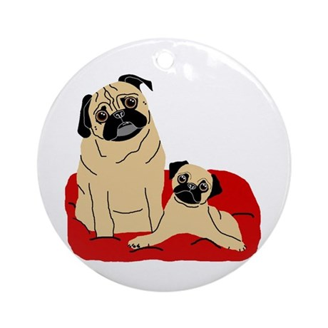 Isabelle and Madison Ornament (Round)