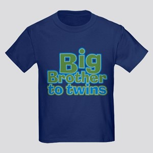 Big Brother to Twins Kids Dark T-Shirt