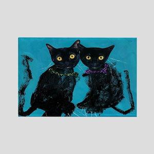 Kitties Rectangle Magnet